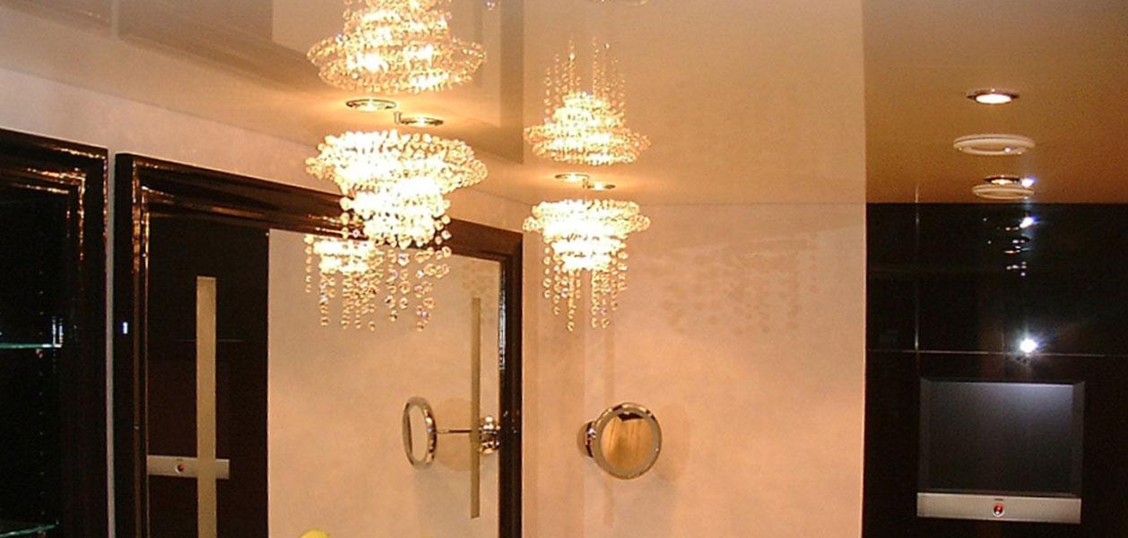 Axelor Spanndecke in Badezimmer